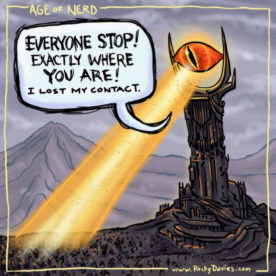 The Great Eye of Sauron of Lord of the Rings.