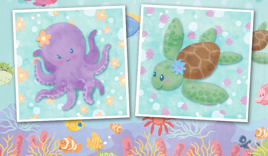 MerFri-octopus-turtle