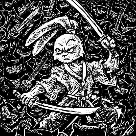 Usagi-Yojimbo-ninja-bw